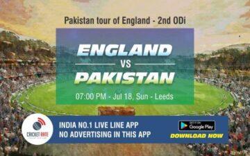 Cricket Betting Tips - England vs Pakistan 2nd T20I Match Prediction