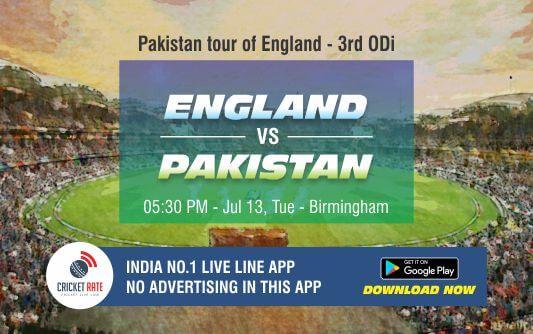Cricket Betting Tips – England vs Pakistan 3rd ODI Match Prediction