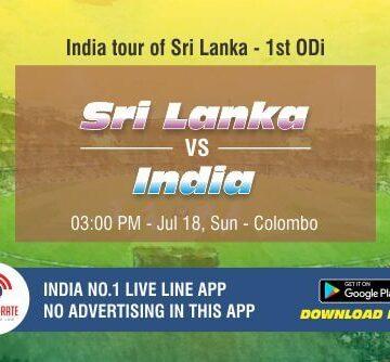 Cricket Betting Tips - Sri Lanka vs India 1st ODI Match Prediction