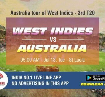 Cricket Betting Tips - West Indies vs Australia 3rd T20I Match Prediction