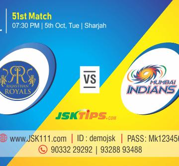 Cricket Betting Tips - Rajasthan vs Mumbai 51st Match Prediction