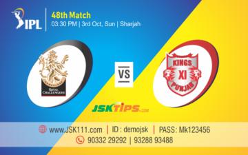 Cricket Betting Tips Bangalore vs Punjab 48th Match Prediction